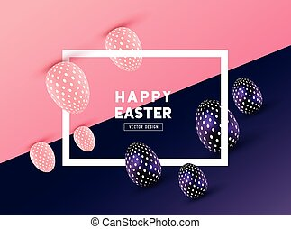 Abstract Easter Design - An abstract Easter Frame Design...