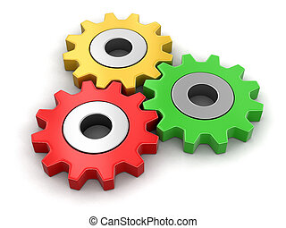 Cogwheels. Image with clipping path