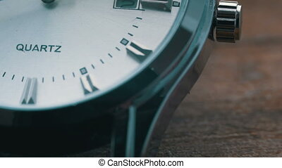 Luxury men's watch close up