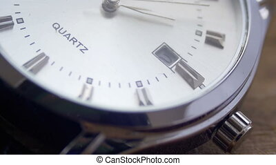 Luxury men's watch Second hand close up - Modern quartz...