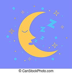 Icon for children in the form of the moon