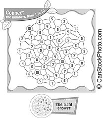 black  Connect the numbers from 1 to 10