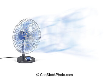 Electric fan blowing cold air