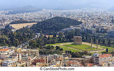 distant view on Olympeion - distant view on Temple of Zeus...