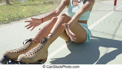 Attractive girl in summer - Young beautiful girl in...