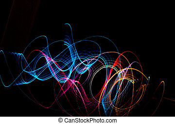 Light Painting - light painting with black background