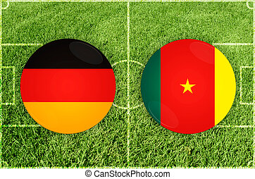 Germany vs Cameroon football match - Confederations Cup...