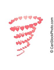 Hearts tornado with grouped elements that makes it easy to...