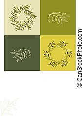 Olive branches set