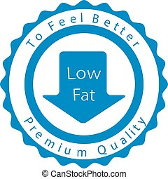 Low fat badge for your design. Vector illustration