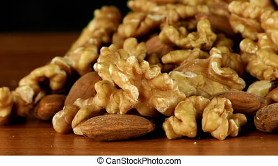 Almond and Walnut Macro View