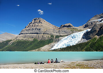Beautiful day at Berg Lake in Mount Robson Provinicial Park...