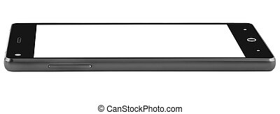 Tablet black modern front flat side
