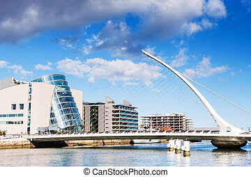 Samuel Beckett Bridge in Dublin, Ireland
