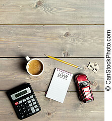 Loan home finances concept