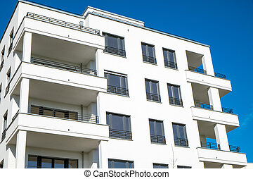 Detail of a white townhouse in Berlin - Detail of a white...