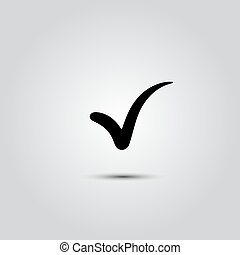 Check Icon Vector. - Black check mark symbol and icon for...
