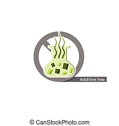 Additives free label. Vector illustration in flat design and...