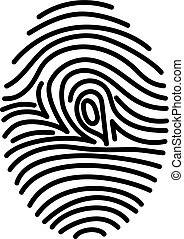 Fingerprint icon identification - Fingerprint line icon....