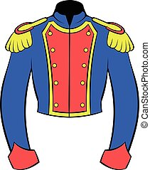 French historical uniform of soldier icon cartoon - French...