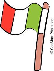 Italy flag icon cartoon
