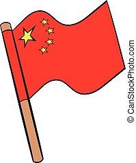 Flag of China icon cartoon