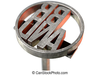 Branding Iron Brand - A metal cattle branding iron with the...