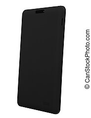 Tablet black isolated back right side