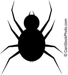 Spider icon. Flat spider - Spider logo template. Spider...