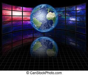 Video Screens with Earth