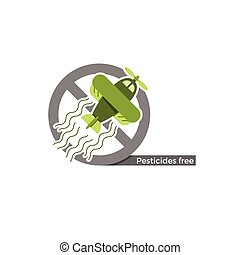 Pesticides free label - Pesticides free food or cosmetics...