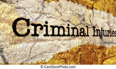 Criminal injury claim