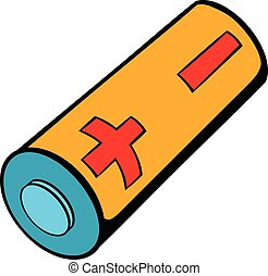 Electronic cigarette battery icon cartoon