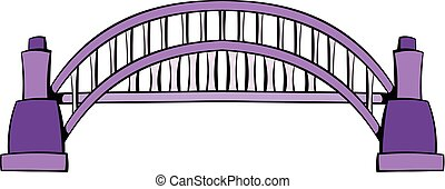 Sydney Harbour Bridge icon cartoon - Sydney Harbour Bridge...