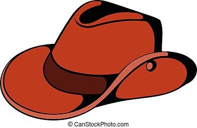 Cowboy hat icon cartoon