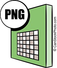 PNG file icon cartoon - PNG file icon in cartoon style...