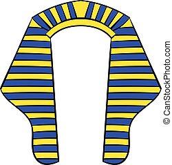 Headdress of Pharaoh icon cartoon - Headdress of Pharaoh...