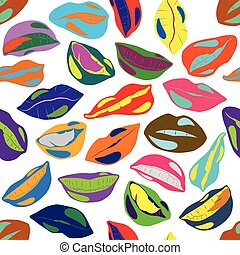 Illustration Seamless Pattern Lips for the creative use in...