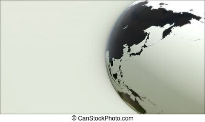 A model of the Earth. 3D Earth - A model of the Earth