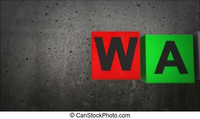 The war in the colored squares of war concept.