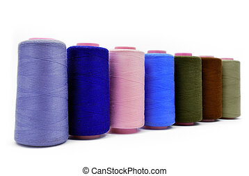 colored threads - colored thread in a row