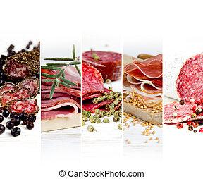 Ham and Salami Mix - Photo of ham and salami mix with herbs...