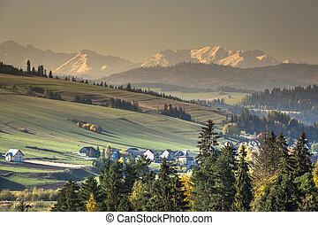 View on Tatras mounatins.Poland.