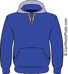 Men hoodies icon cartoon - Men hoodies icon in cartoon style...