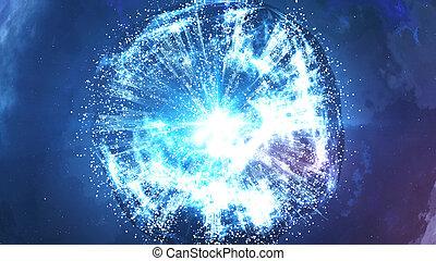 Abstract Big Bang Creation - 3d rendering of Abstract Big...