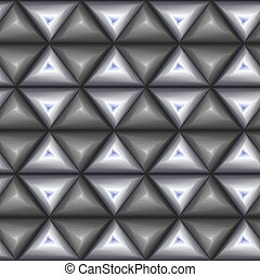 Seamless pattern with grey and blue triangle shapes -...