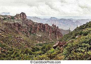 Landscape in desert of Arizona, USA - Landscape in desert of...