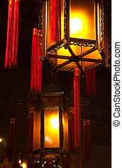Chinese Lanterns - Traditional, ornate Chinese Lanterns with...