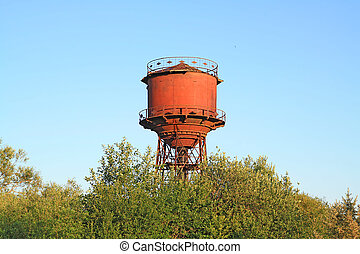 aging water tower