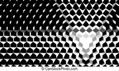 Cube Pattern Background - Black and White Cube Pattern With...